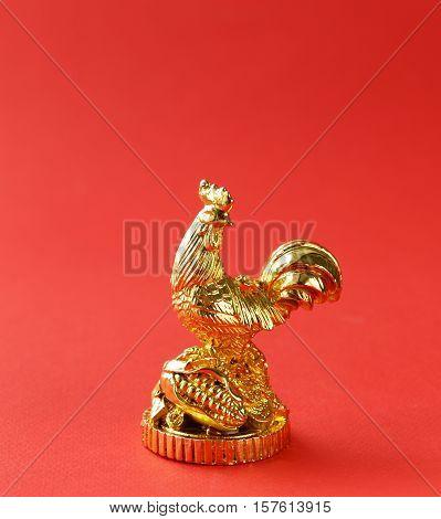 symbol of the new year, golden cock, oriental calendar