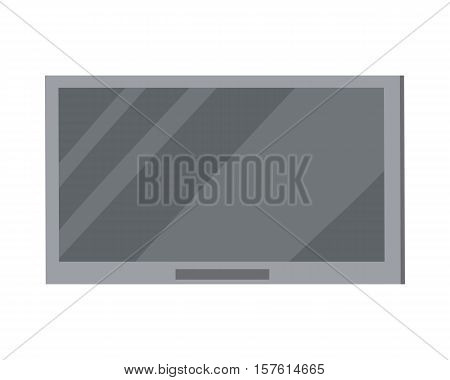 Led tv big plasma screen isolated on white. Modern tele in flat style. Crystal home TV set. LCD flat panel display which uses LED backlighting. Thin film transistor liquid crystal display. Vector