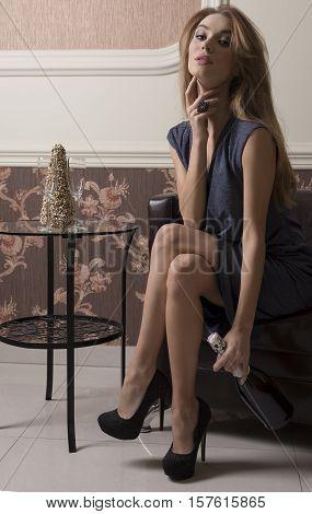 Woman At Elegant Party