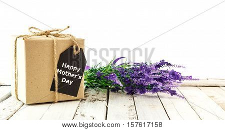 Mother Day - Brown Gift Box With Card