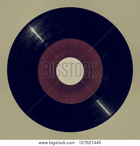 Vintage Looking Red Vinyl Record