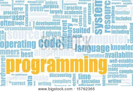 Computer Programming Code Concept as a Abstract