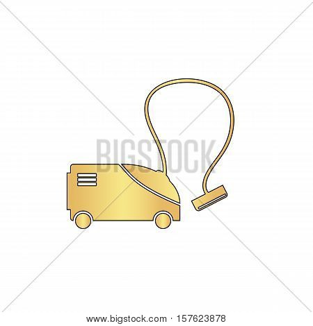 hoover Gold vector icon with black contour line. Flat computer symbol