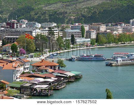Beautiful Landscape of the Port of Ohrid, Macedonia