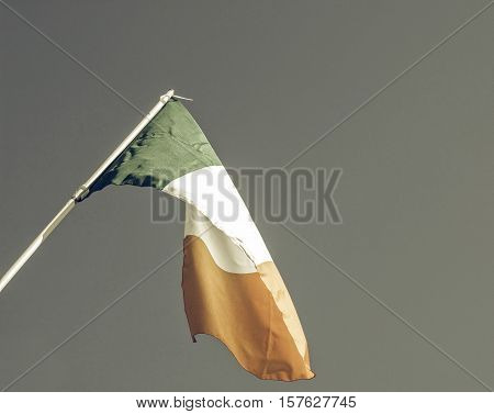 Vintage Looking Irish Flag