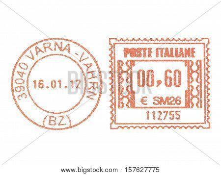Vintage Looking Postage Meter Stamp