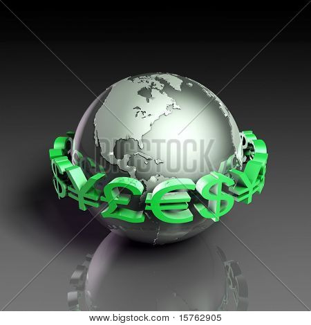 Foreign Currency Exchange Stock Market as Concept