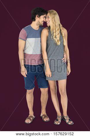 Couple Casual Attire Studio Concept