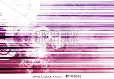 Purple Data Network Internet Tech Abstract Art poster
