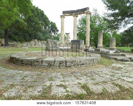 The Philippeion, Stunning Ancient Greek Sanctuary at Olympia Archaeological Site of Greece