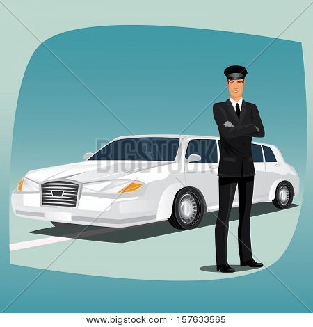 Chauffeur Of Limousine Or Lincoln