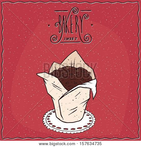 Chocolate Muffin In White Paper Muffin Cup