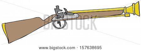 Illustration of a Blunderbuss black powder rifle.