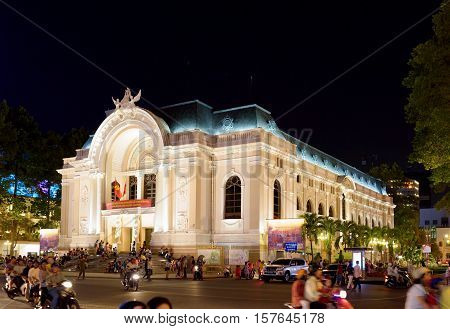 Saigon Opera House (municipal Theatre) In Ho Chi Minh, Vietnam