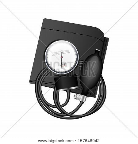 Tonometer - a device for measuring human blood pressure. Medical Supplies. Vector illustration.
