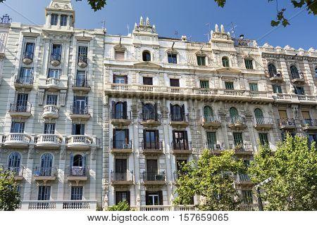 Barcelona (Catalunya Spain): buildings in the Avinguda del Paral-lel
