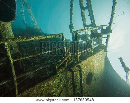 The Hilma Hooker Shipwreck in Bonaire, Caribbean
