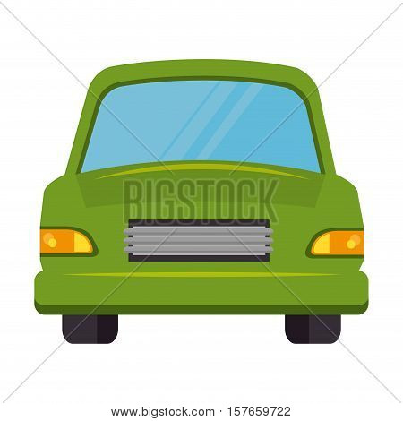 car green isolated icon vector illustration design