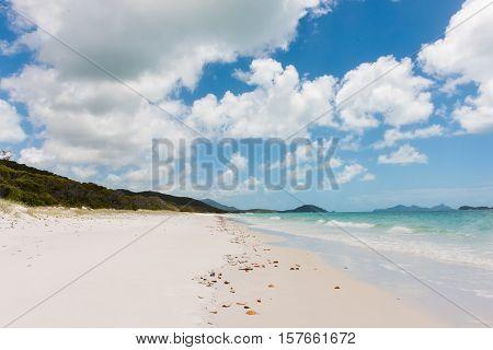 Whitehaven Beach, a 7 km stretch along Whitsunday Island, Queensland, Australia