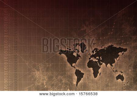 Antecedentes de crecimiento empresarial en todo el mundo con mapa