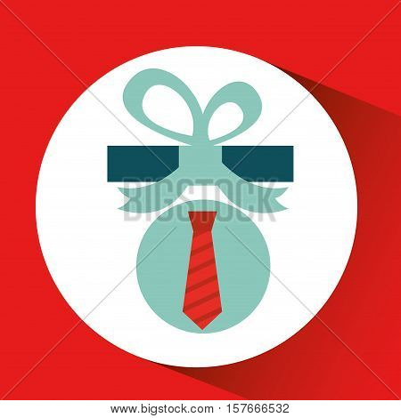 gift father day with red tie vector illustration esp 10