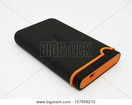 External Hard Hard Drive On A White Background