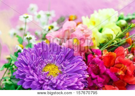 Bouquet Of Garden Flowers