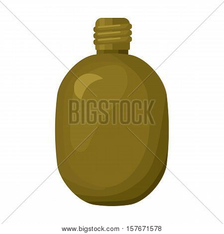 Army canteen icon in cartoon style isolated on white background. Military and army symbol vector illustration