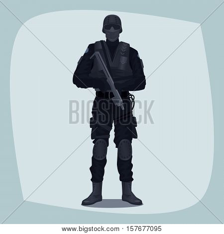 Man Of Specialized Tactical Team
