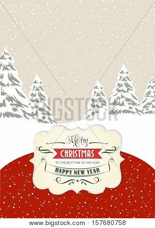 Retro Christmas Card, Format 7 Inch/5 Inch