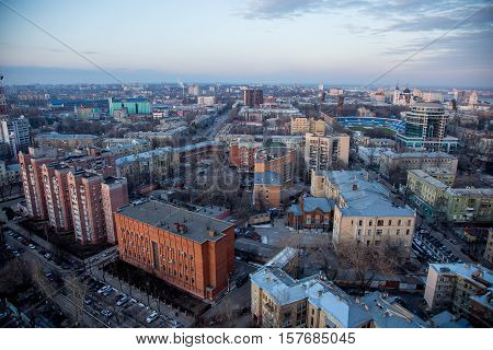 Voronezh. Cityscape view from the roof of Sunny Olympus