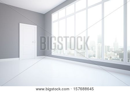 Unfurnished Grey Interior Side