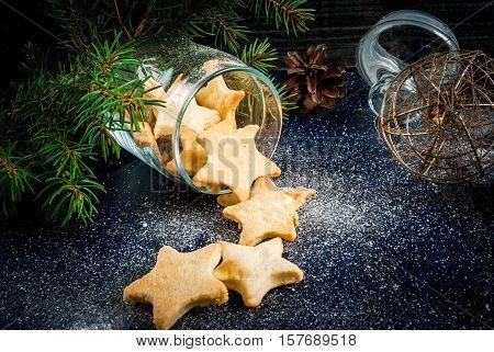 Delicious Christmas Cookies In Jar