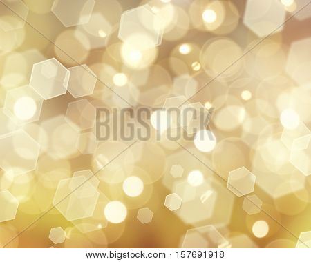 Gold Christmas bokeh lights background