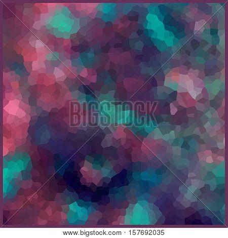 Glass vitrage mosaic kaleidoscopic pattern background soft pastel colors