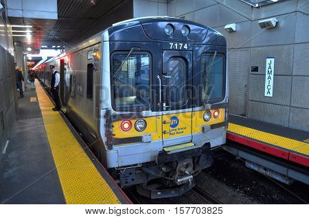 NEW YORK CITY - JAN 13, 2013: MTA Long Island Rail Road at Jamaica Station, New York City, USA.