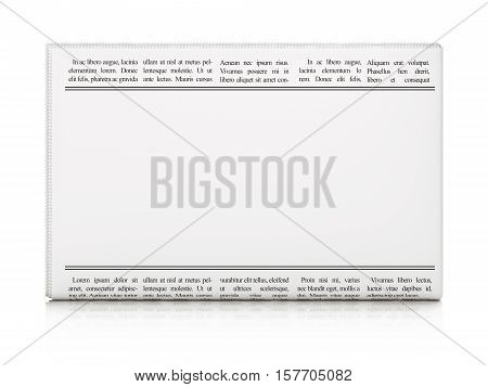 News concept: newspaper headline International News and Newspaper icon on White background, 3D rendering