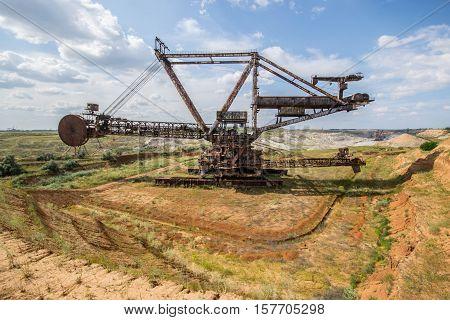 Biggest Excavator In The World Working, Bagger 228, Ukraine. Big Mine, Develop Mineral Resources, Ex