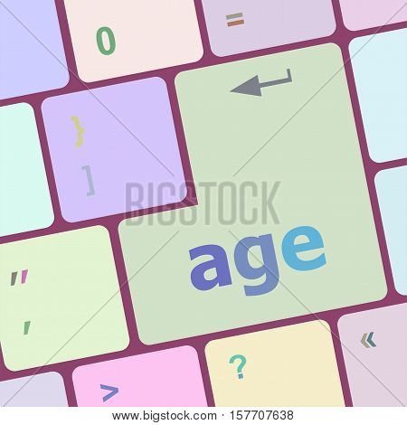 Age Keyboard Key Button Showing Forever Young Concept
