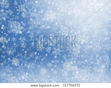 Falling snow texture, Winter festive background, Vector Illustration