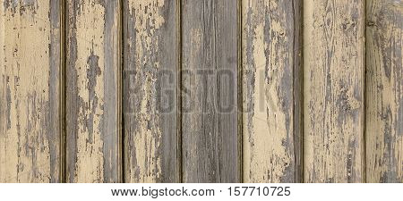 Wide Wood Abstract Rustic Horizontal Banner. Vintage Wooden Barnwood Texture