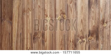Barn Wooden Wall Planking Wide Texture. Horizontal Brown Wood Background