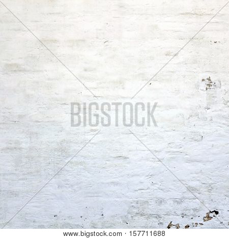 Old White Wach Plastered Painted Wall Frame Square Background Texture