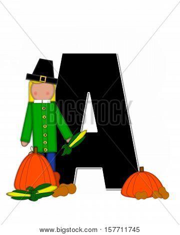 Alphabet Children Thanksgiving A