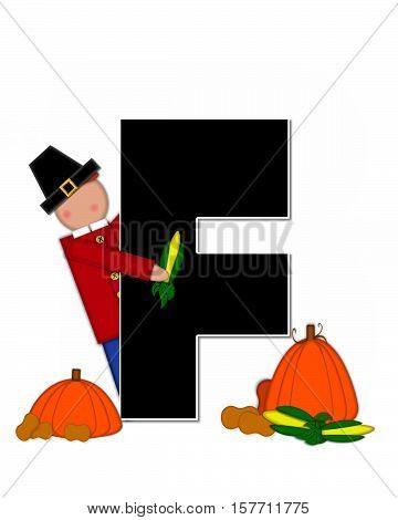 Alphabet Children Thanksgiving F