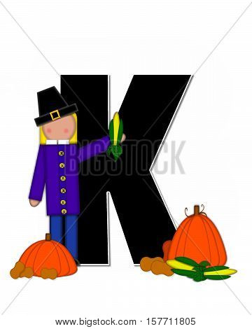 Alphabet Children Thanksgiving K