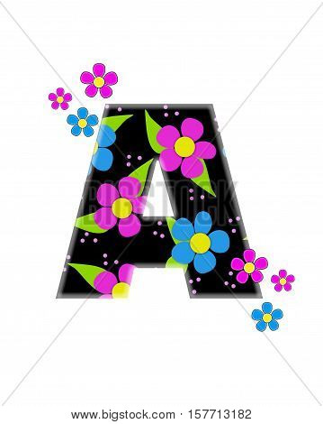 Alphabet Flower Topia A
