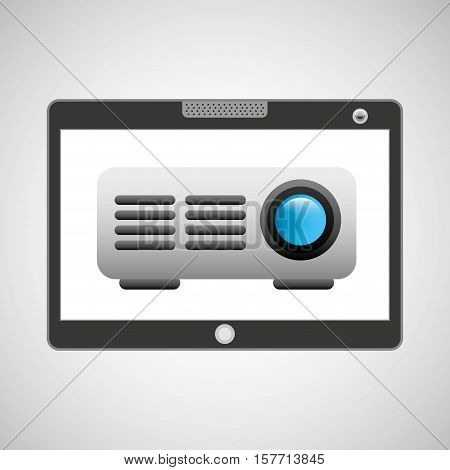 touchpad digital video beam wireless vector illustration eps 10