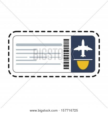 Ticket icon. Travel trip vacation tourism and journey theme. Isolated design. Vector illustration