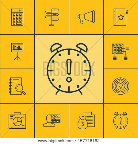 Set Of Project Management Icons On Analysis, Opportunity And Warranty Topics. Editable Vector Illust